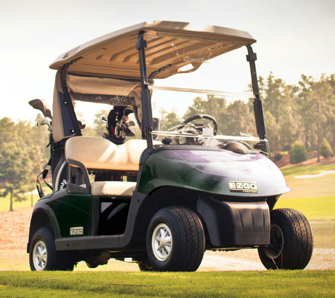 Golf buggy hire at Ombersley includes the latest electric E-Z-Go RXV buggies