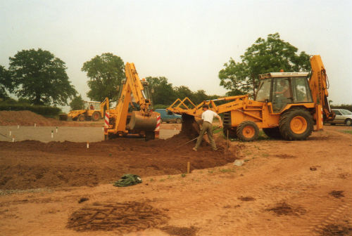 Construction of the first green begins at Ombersley Golf Club in 1990
