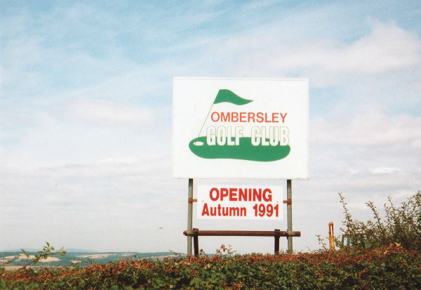 Ombersley Golf Club opened in the autumn of 1991