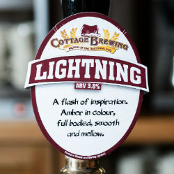 Lightning by Cottage Brewing - Real ale at Ombersley Golf Club
