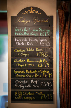 Come and sample Todays Specials at Ombersley Golf Club