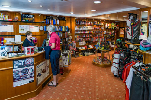Leading brands on display in Ombersley Golf Shop